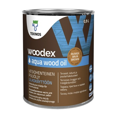 Puuöljy Woodex Aqua Wood Oil 0,9 l ruskea