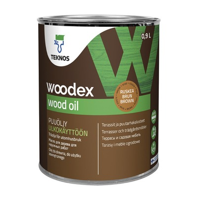 Puuöljy Woodex Wood Oil 0,9 l ruskea