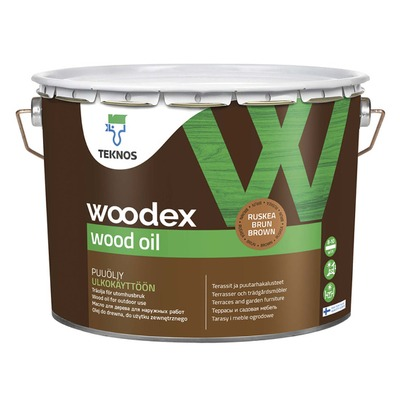 Puuöljy Woodex Wood Oil 9 l ruskea