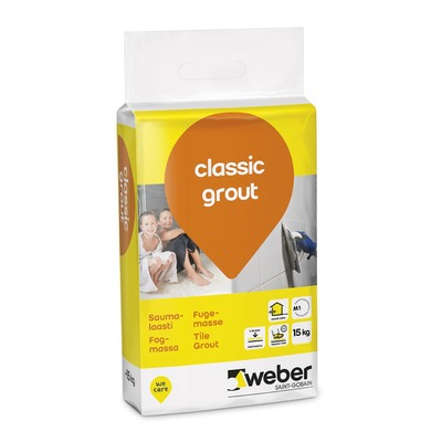 Saumalaasti weber classic grout 15 kg 17 medium grey