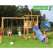 Leikkitorni Jungle Gym® Hut+Swing