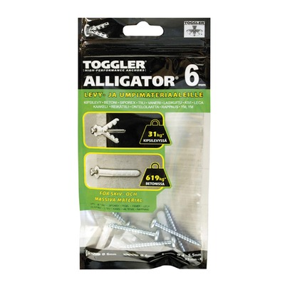 Tulppa ALLIGATOR® AF6-5 6 mm 5 kpl