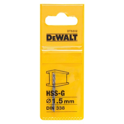 Metallipora DeWalt HSS-G 1,5 mm 2 kpl