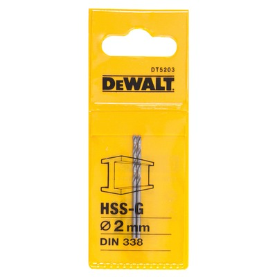 Metallipora DeWalt HSS-G 2,0 mm 2 kpl