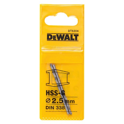 Metallipora DeWalt HSS-G 2,5 mm 2 kpl